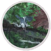 Fly Me Away To Little River Round Beach Towel