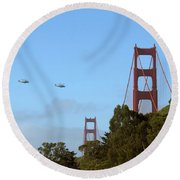 Fly Over Round Beach Towel