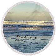 Flyby Round Beach Towel