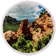 Flying Buttress 04-004 Round Beach Towel