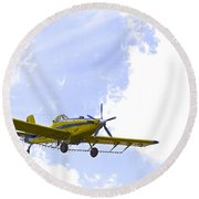 Flying By Wire 1 Of 6 Round Beach Towel