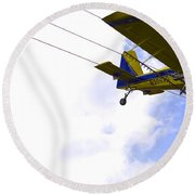 Flying By Wire 5 Of 6 Round Beach Towel