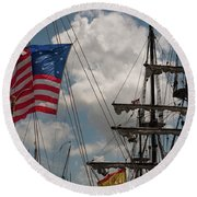 Flying Colors Round Beach Towel