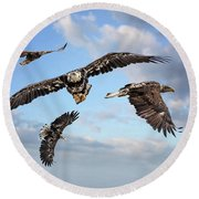 Flying Eagles Round Beach Towel