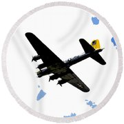 Flying For Home Round Beach Towel