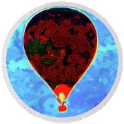 Flying High - Hot Air Balloon Round Beach Towel