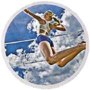 Flying High Round Beach Towel