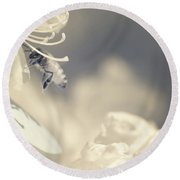 Flying In Infrared Round Beach Towel