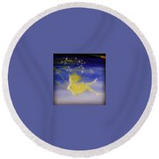 Flying In The Air Round Beach Towel