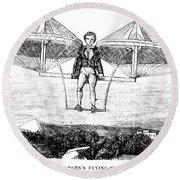 Flying Machine, 1807 Round Beach Towel