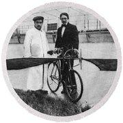 Flying Machine, 1912 Round Beach Towel