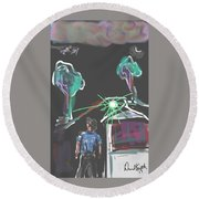 Flying Men Round Beach Towel