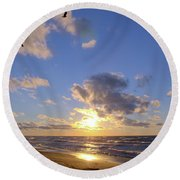 Flying Onshore Two Round Beach Towel