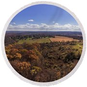 Flying Over New Milford Round Beach Towel