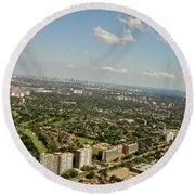 Flying Over Toronto Round Beach Towel