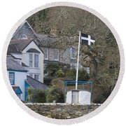 Flying The Flag For Cornwall Round Beach Towel