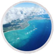 Flying To Paradise Round Beach Towel