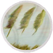 Flying Trees Round Beach Towel
