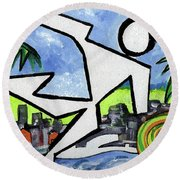 Flyingboyeee Round Beach Towel