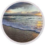 Foam Sunset Round Beach Towel