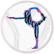 Focus Yoga 24 X 36 Round Beach Towel