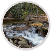 Fodder Creek Round Beach Towel