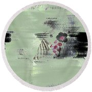 Fog And Flowers Round Beach Towel