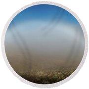 Fog Bow Round Beach Towel
