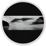 Fog In The Morning Round Beach Towel