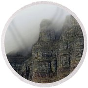 Fog On The Mountains Round Beach Towel