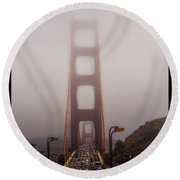 Foggy Golden Gate Round Beach Towel