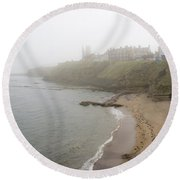 Foggy March In St. Andrews Round Beach Towel