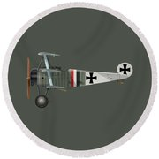 Fokker Dr.1 - 214/17 - March 1918 Round Beach Towel