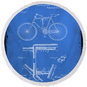 Folding Bycycle Patent Drawing 1d Round Beach Towel