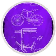 Folding Bycycle Patent Drawing 1e Round Beach Towel