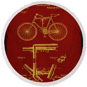 Folding Bycycle Patent Drawing 1f Round Beach Towel