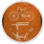 Folding Bycycle Patent Drawing 1g Round Beach Towel