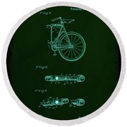 Folding Bycycle Patent Drawing 2a Round Beach Towel