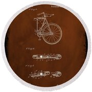Folding Bycycle Patent Drawing 2c Round Beach Towel