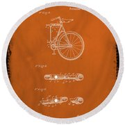 Folding Bycycle Patent Drawing 2e Round Beach Towel