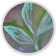 Foliage 1 Round Beach Towel