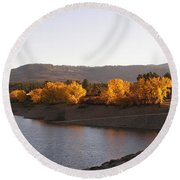 Foliage At Jackson Lake Round Beach Towel