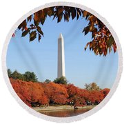 Foliage Potomac Round Beach Towel