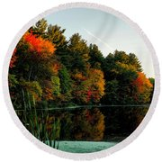 Foliage Reflections Round Beach Towel