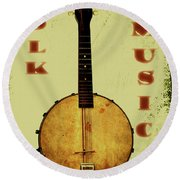 Folk Music Round Beach Towel
