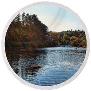 Follow The River Round Beach Towel