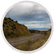 Follow The Winding Road Round Beach Towel
