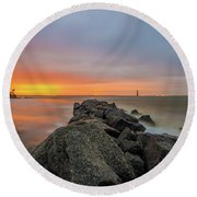 Folly Dolly Round Beach Towel