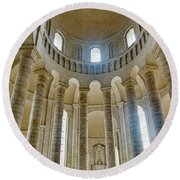 Fontevraud Abbey Chapel, Loire, France Round Beach Towel