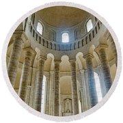 Fontevraud Abbey Chapel, Loire, France Round Beach Towel